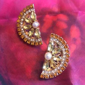 Betsey Johnson Lemon Slice Earrings